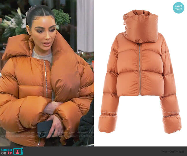 Padded Jacket by Rick Owens worn by Kim Kardashian  on Keeping Up with the Kardashians