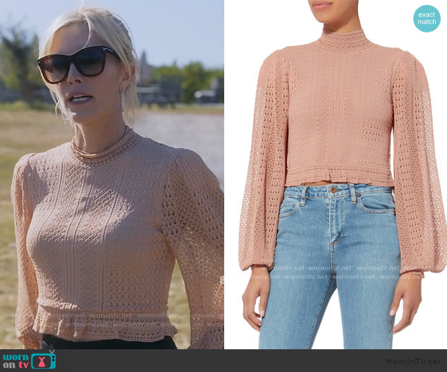 Antoinette Crop Top by Ronny Kobo worn by Tinsley Mortimer  on The Real Housewives of New York City