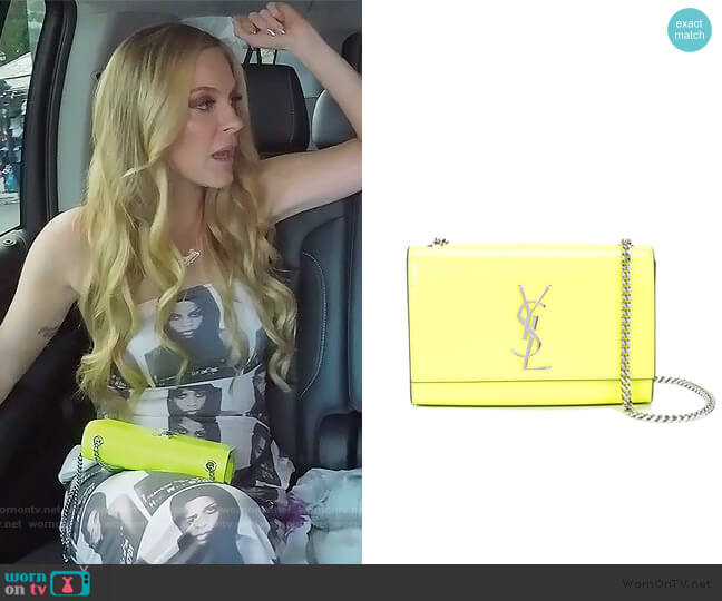 Small Kate Shoulder Bag by Saint Laurent worn by Leah McSweeney  on The Real Housewives of New York City