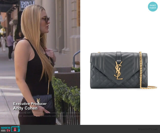 Quilted Envelope Bag by Saint Laurent worn by Leah McSweeney  on The Real Housewives of New York City