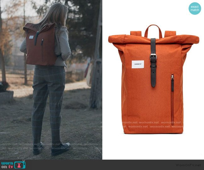 Dante Backpack in Rust by Sandqvist worn by Villanelle (Jodie Comer) on Killing Eve