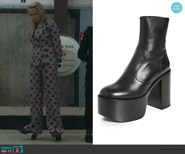 High Raid Booties by Simon Miller worn by Villanelle (Jodie Comer) on Killing Eve