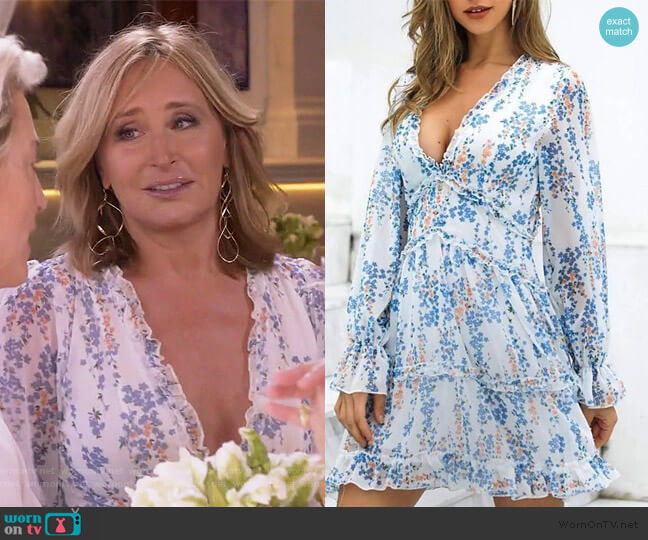 Amy Floral Dress by Sonja worn by Sonja Morgan  on The Real Housewives of New York City