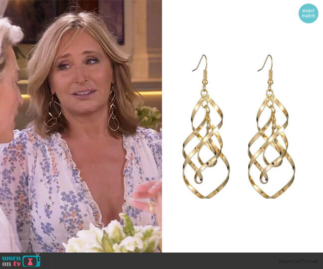 Annabell Twist Earrings by Sonja worn by Sonja Morgan  on The Real Housewives of New York City