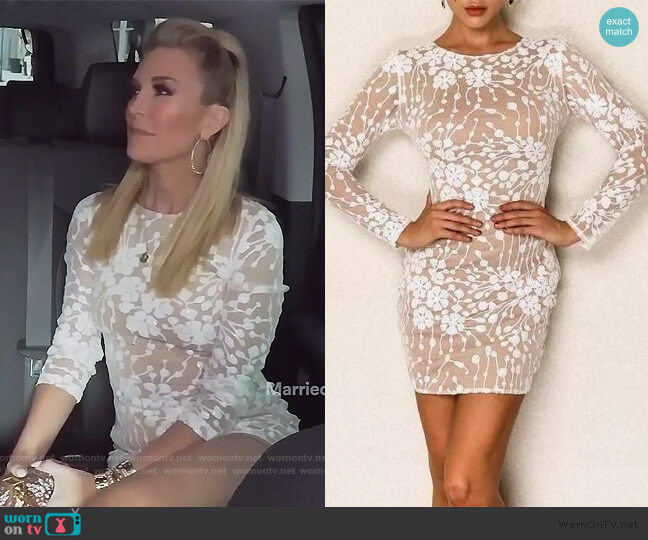 Gemma Mini Long Sleeve Dress by Sonja worn by Tinsley Mortimer  on The Real Housewives of New York City