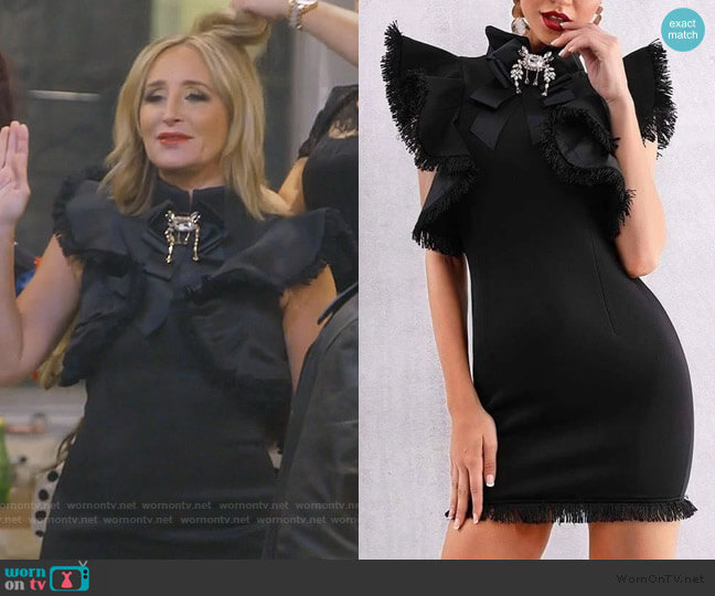 Naomi Mini Dress by Sonja worn by Sonja Morgan  on The Real Housewives of New York City