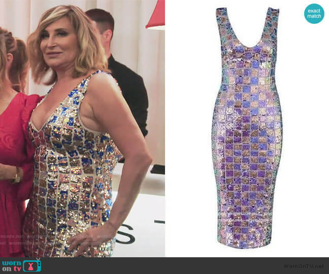 All That Glitters Midi Dress by Sonja worn by Sonja Morgan  on The Real Housewives of New York City