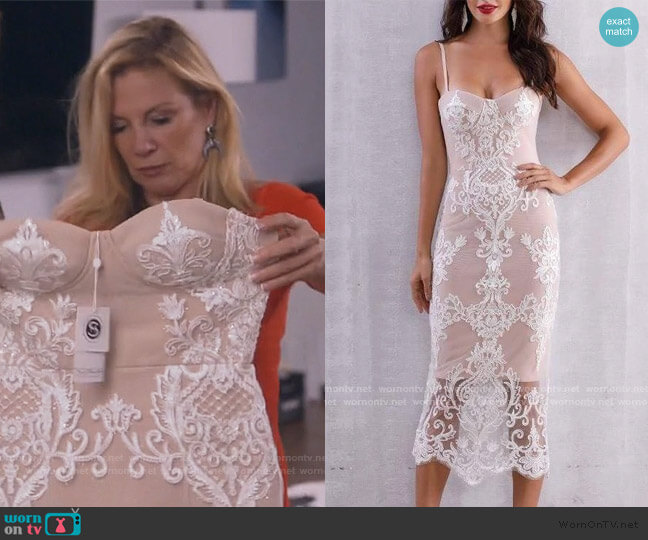 Stacey Dress by Sonja worn by Ramona Singer  on The Real Housewives of New York City