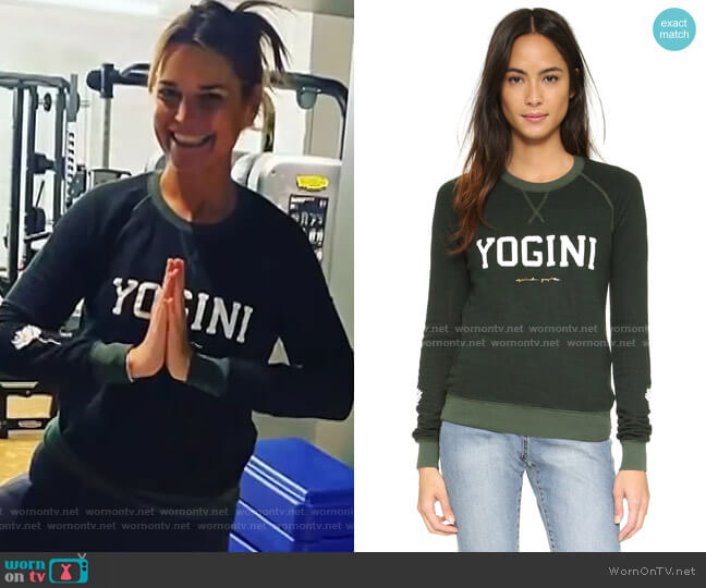 Yogini Boyfriend Shrunken Sweatshirt by Spiritual Gangster worn by Savannah Guthrie  on Today