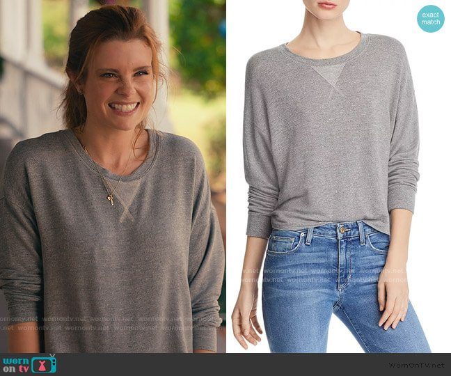 Marathon Sweatshirt by Splendid worn by Maddie Townsend (JoAnna Garcia Swisher) on Sweet Magnolias