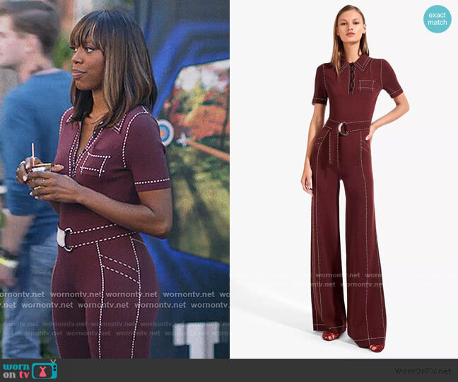 Viv Jumpsuit by Staud worn by Molly Carter (Yvonne Orji) on Insecure
