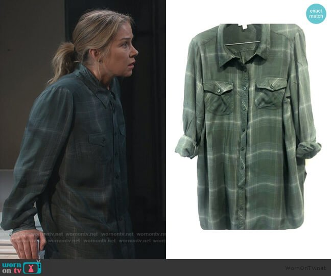 Plaid Shirt by Style & Co worn by Jen Harding (Christina Applegate) on Dead to Me