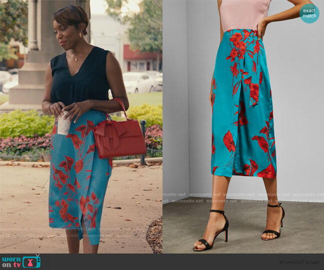 Lilyyy Fantasia Skirt by Ted Baker worn by Helen Decatur (Heather Headley) on Sweet Magnolias