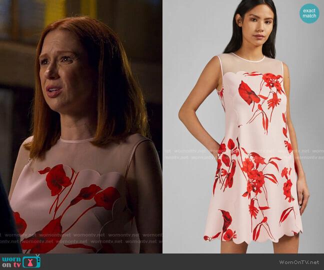 Jaazmin Dress by Ted Baker worn by Kimmy Schmidt (Ellie Kemper) on Unbreakable Kimmy Schmidt