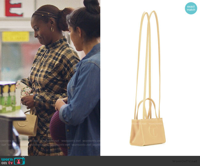 Small Cream Shopping Bag by Telfar worn by Issa Dee (Issa Rae) on Insecure