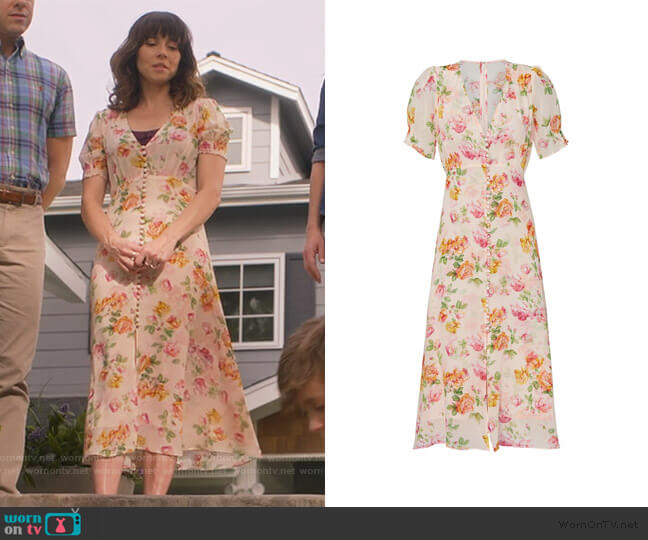 Button Front Robe Dress by The Kooples worn by Judy Hale (Linda Cardellini) on Dead to Me