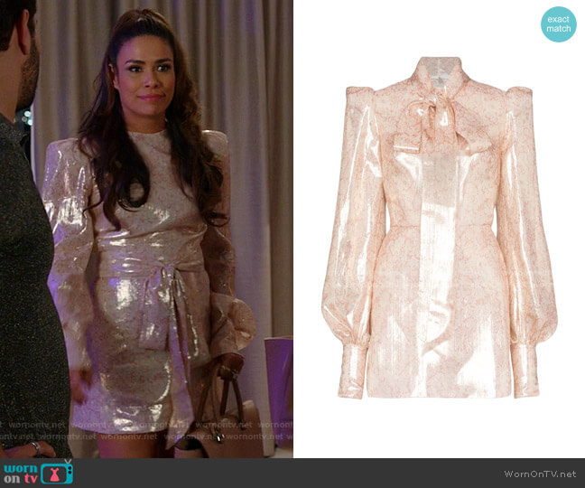 Mayhem Floral Print Mini Dress by The Vampire's Wife worn by Cristal Jennings (Daniella Alonso) on Dynasty