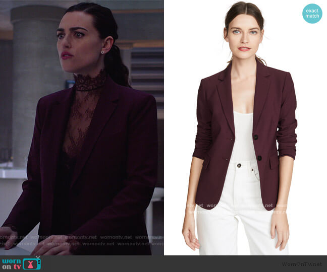 Carissa Blazer by Theory worn by Lena Luthor (Katie McGrath) on Supergirl