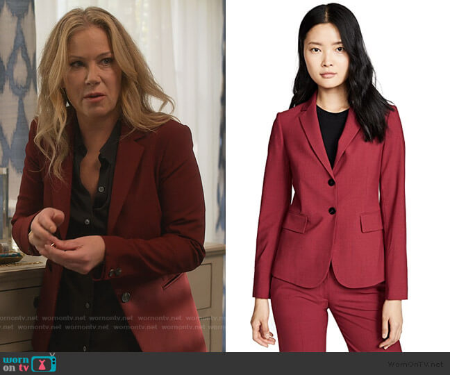 Carissa Blazer by Theory worn by Jen Harding (Christina Applegate) on Dead to Me