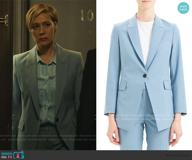 Etienette B Good Wool Blend Suit Jacket by Theory worn by Bonnie Winterbottom (Liza Weil) on HTGAWM