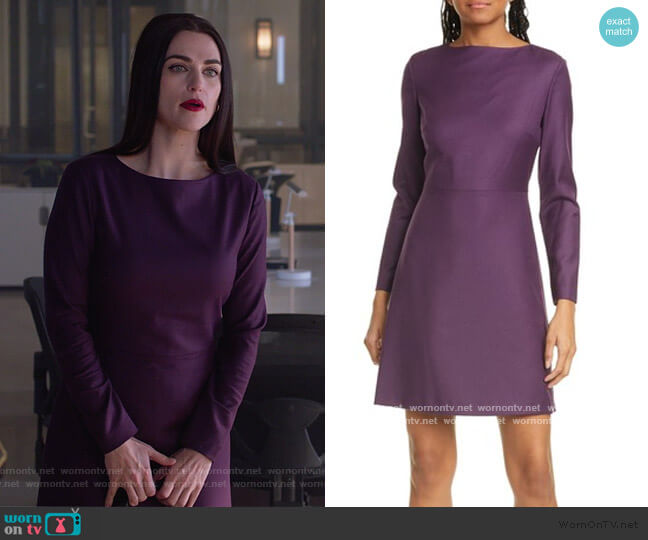 Kamillina Long Sleeve Wool Dress by Theory worn by Lena Luthor (Katie McGrath) on Supergirl