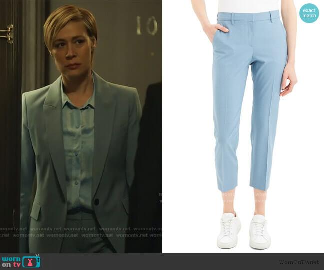 Treeca 2 Good Wool Blend Crop Suit Pants by Theory worn by Bonnie Winterbottom (Liza Weil) on HTGAWM