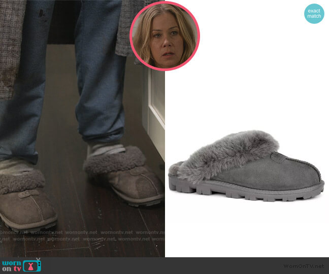 Coquette Slippers by Ugg worn by Jen Harding (Christina Applegate) on Dead to Me