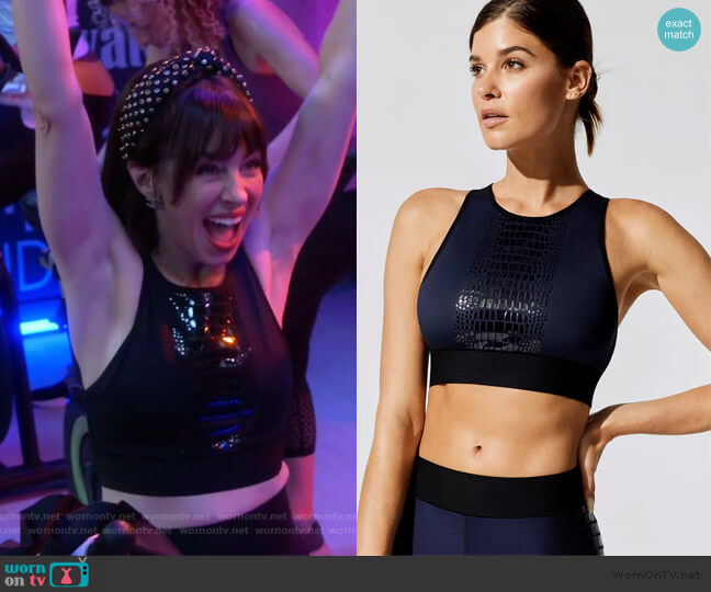 Altitude Crocodile Crop Top by Ultracor worn by Elizabeth (Natasha Leggero) on Broke