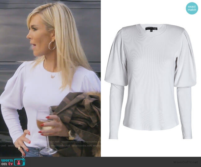 Lyon Rib Knit Top by Veronica Beard worn by Tinsley Mortimer  on The Real Housewives of New York City