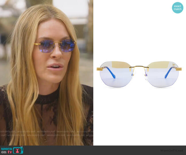 Detroit Player Drill Mount 2kkt Gold Signiture Edition by Vintage Frames worn by Leah McSweeney  on The Real Housewives of New York City