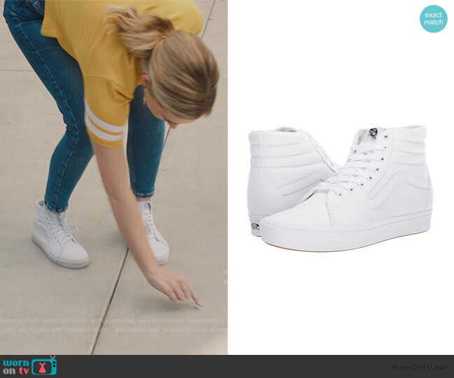 ComfyCush SK8-Hi by Vans worn by Taylor Otto (Meg Donnelly) on American Housewife