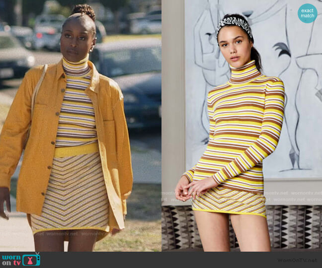 2020 Resort Collection by Victor Glemaud worn by Issa Dee (Issa Rae) on Insecure
