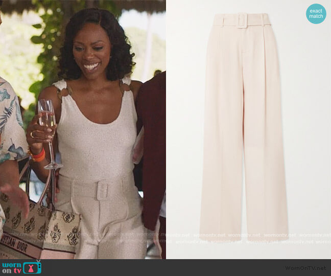 High-Waist Belted Pants by Vince worn by Molly Carter (Yvonne Orji) on Insecure