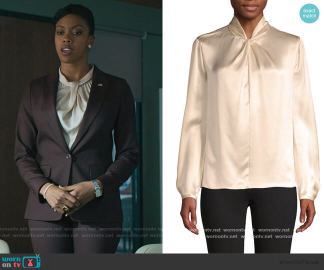 Knot Silk Top by Vince worn by Kate Sacker (Condola Rashad) on Billions