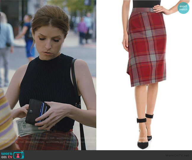 Plaid Asymmetric Skirt by Vivian Westwood worn by Darby (Anna Kendrick) on Love Life