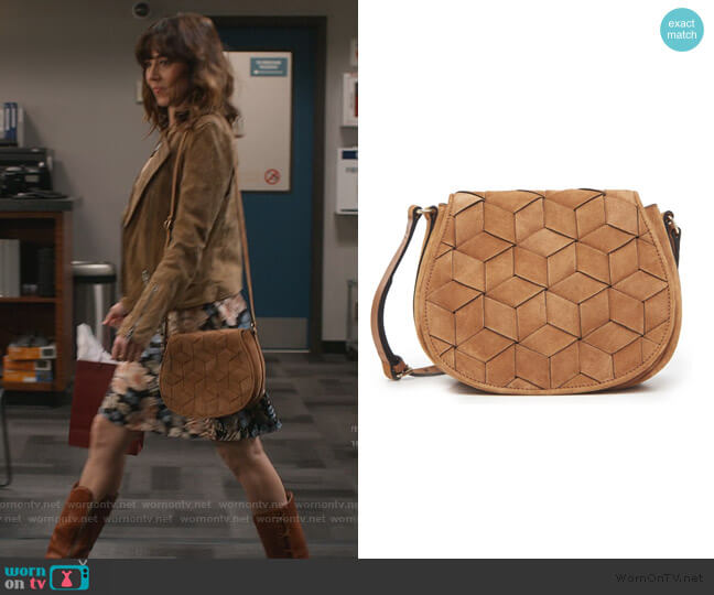 Escape Saddle Bag by Welden Bags worn by Judy Hale (Linda Cardellini) on Dead to Me