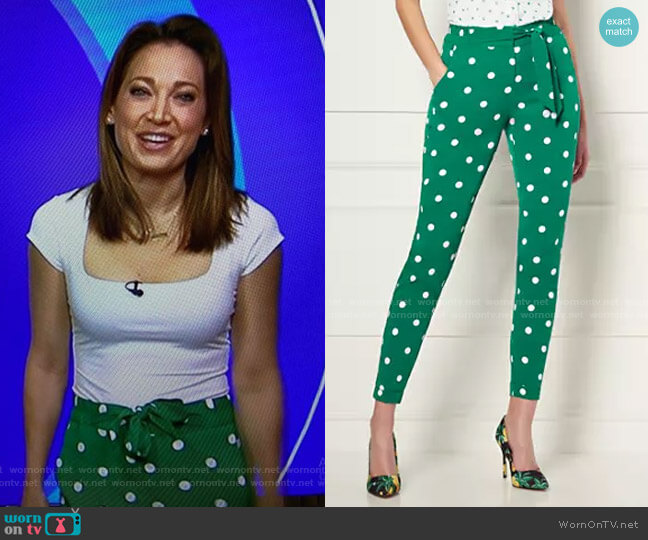 Zoey Pants - Eva Mendes Collection by New York & Company worn by Ginger Zee  on Good Morning America