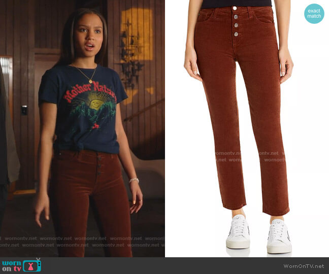 Isabelle Straight Corduroy Jeans by AG worn by May Grant (Corinne Massiah) on 9-1-1