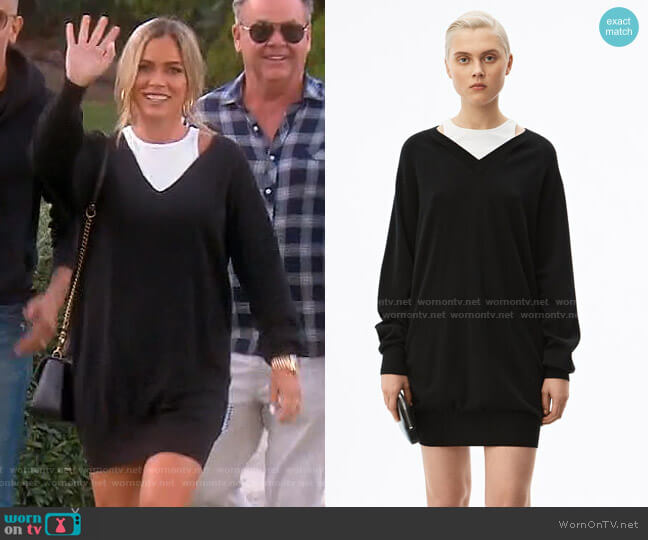 Bi-Layer Sweater Dress by Alexander Wang worn by Teddi Mellencamp Arroyave  on The Real Housewives of Beverly Hills