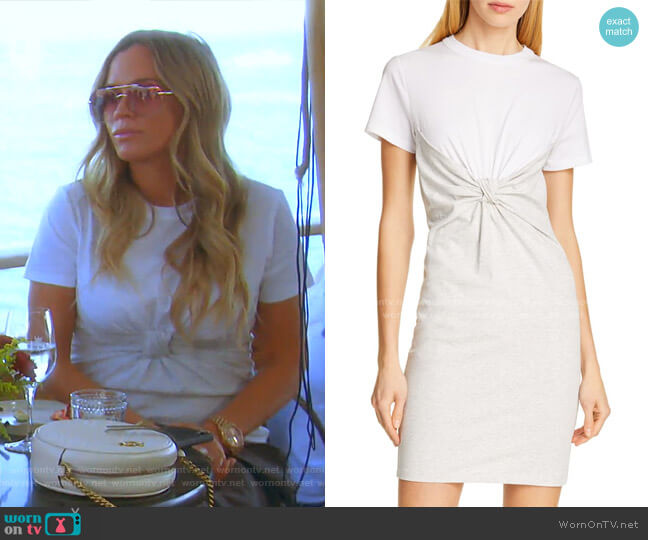 Knot Front High Twist Jersey Dress by Alexanderwang.t worn by Teddi Mellencamp Arroyave  on The Real Housewives of Beverly Hills