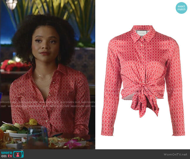 Rosa Top by Alexis worn by Vanessa (Jade Payton) on Dynasty