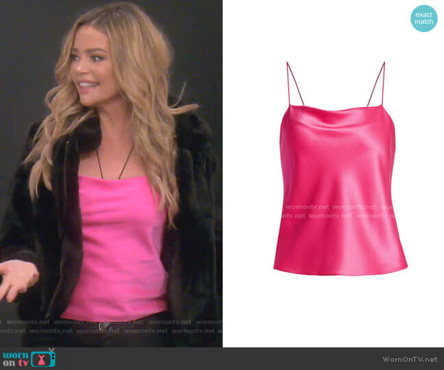 Harmon Drapey Slip Camisole by Alice + Olivia worn by Denise Richards  on The Real Housewives of Beverly Hills
