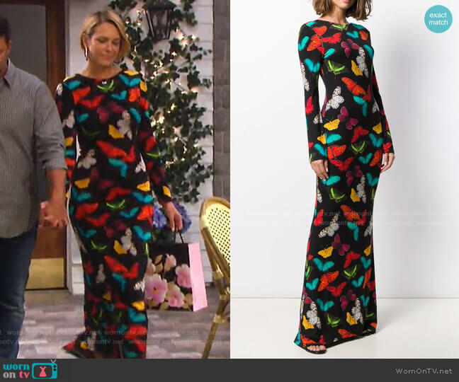 Rosaria Maxi Dress by Alice + Olivia worn by Nicole Walker (Arianne Zucker) on Days of our Lives