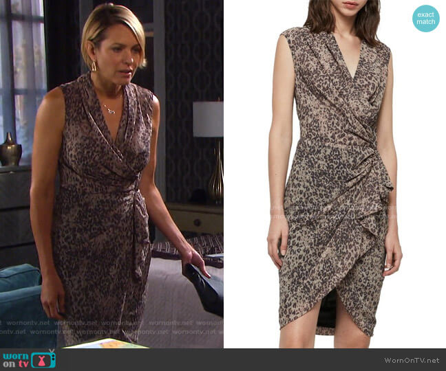 Cancity Patch Dress by All Saints worn by Nicole Walker (Arianne Zucker) on Days of our Lives