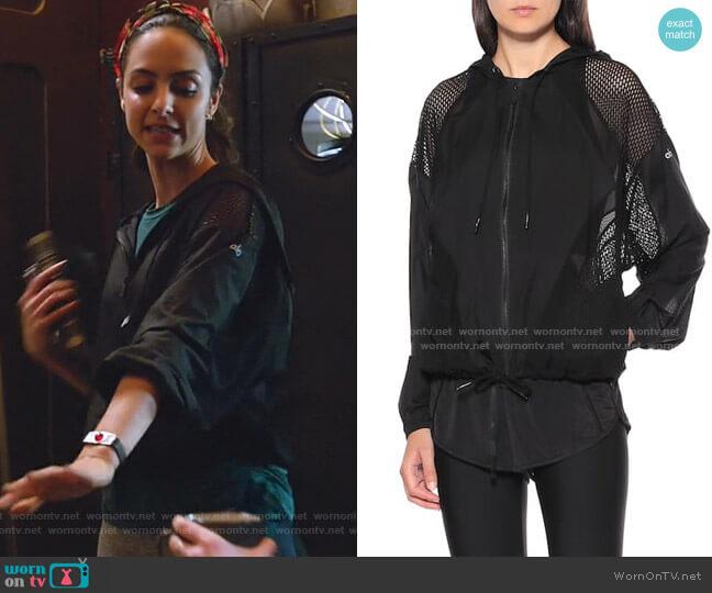 Feature jacket by Alo Yoga worn by Zari Tomaz (Tala Ashe) on Legends of Tomorrow