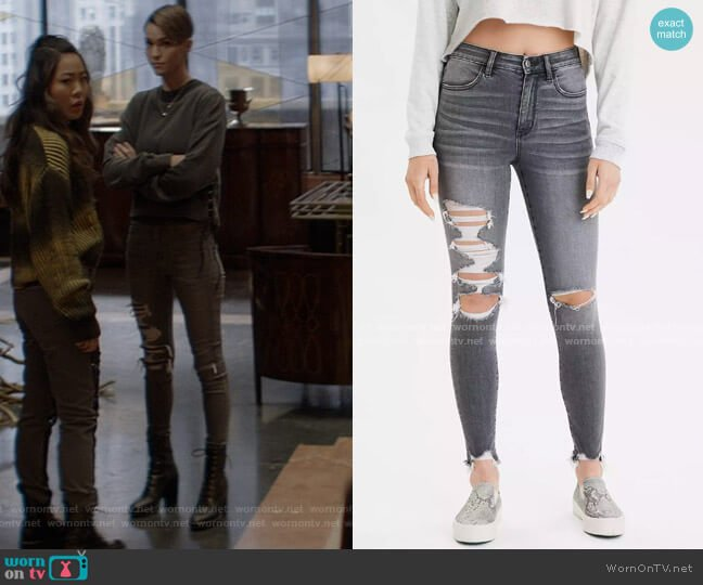 AE Ne(x)t Level Super High-Waisted Jegging by American Eagle worn by Kate Kane (Ruby Rose) on Batwoman