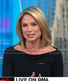 Amy's black cutout top on Good Morning America