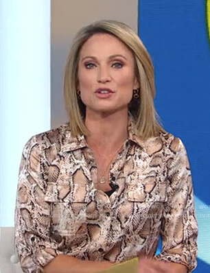 Amy's snake print shirtdress on Good Morning America