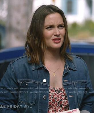 Angie's denim jacket on Single Parents