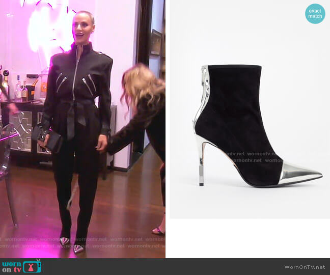 Blair Suede & Metallic Ankle Boots by Balmain worn by Dorit Kemsley  on The Real Housewives of Beverly Hills